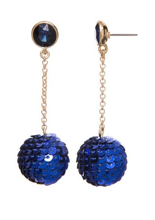 Crown & Ivy™ Sequin Chain Drop Earrings