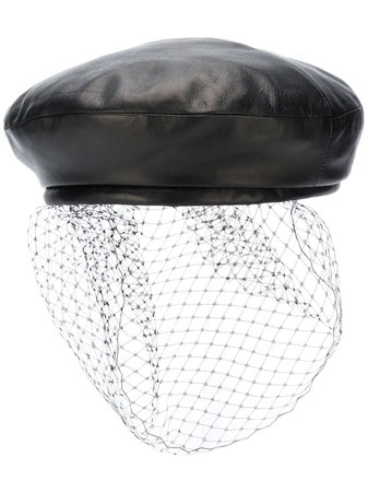 Balmain Leather Beret - Farfetch