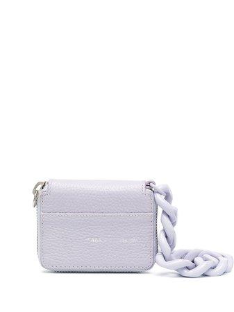 Kara chunky chain leather mini bag purple SLG46D5721 - Farfetch
