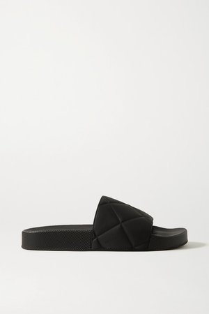 Embossed Rubber Slides - Black