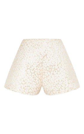 Gold Foil Print Shorts