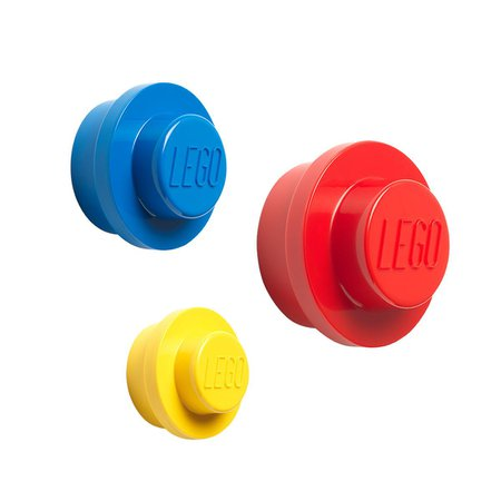 Bright Lego Wall Hooks | The Container Store