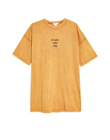 Topshop 'Nice To Be Nice' Oversized T-Shirt - T-Shirt - Women Topshop T-Shirts online on YOOX United States - 12315095IE