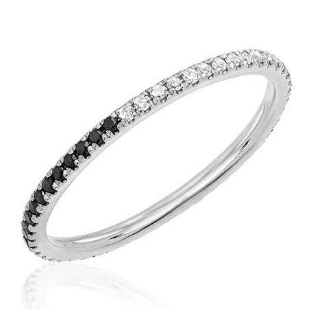 Black and White Diamond Eternity Band – Stephanie Gottlieb Fine Jewelry
