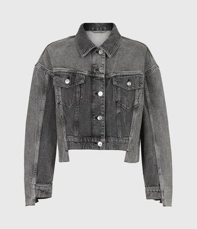 ALLSAINTS US: Womens Two Tone Denim Jacket (washed_grey)