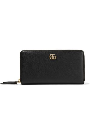 Gucci | Marmont Petite textured-leather wallet | NET-A-PORTER.COM