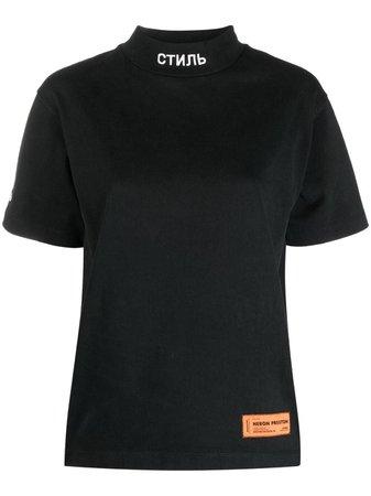 Heron Preston logo-patch T-shirt - Farfetch