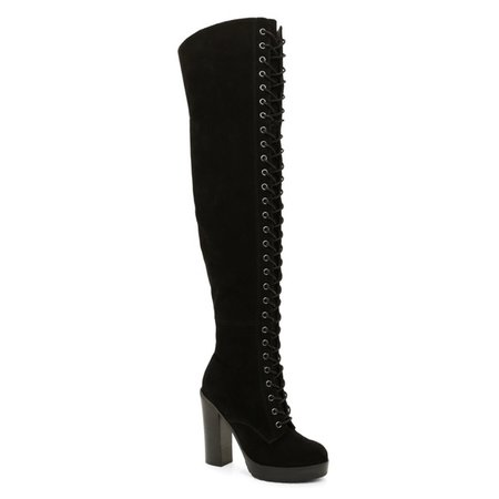 Aldo Shoes | Lace Up Over The Knee Boots | Poshmark
