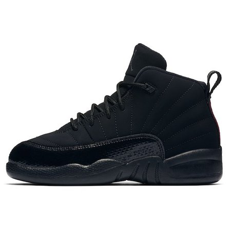 Preschool Jordan Brand Black Air Jordan 12 Retro Shoe