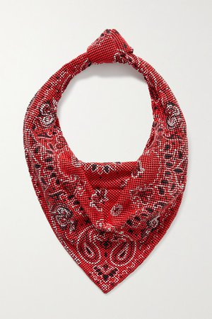 Printed Chainmail Tote - Red