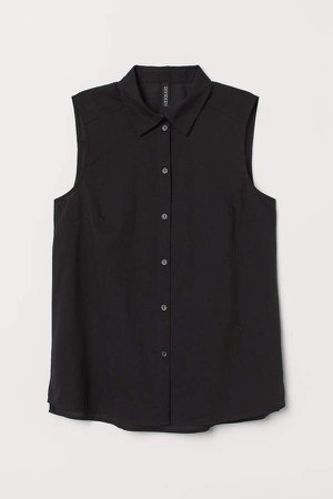Sleeveless Blouse - Black