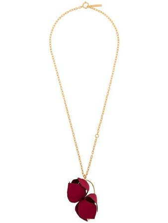 Marni Flower Pendant Necklace COMVW12N00T2000 Red   Farfetch