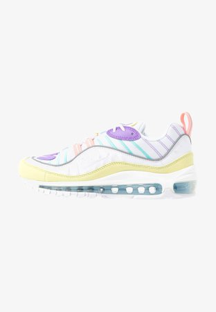 Nike Sportswear AIR MAX 98 - Baskets basses - luminous green/white/atomic violet/bleached coral/psychic blue/light aqua - ZALANDO.FR