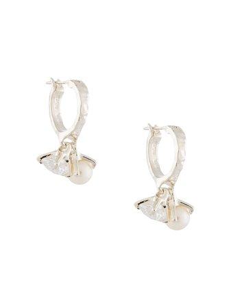 E.M. Hanging Pearl Earrings - Farfetch