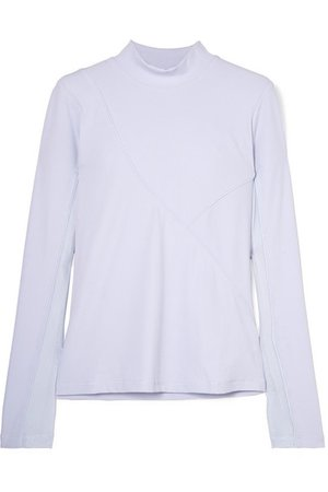 Nike | Pro HyperCool mesh-trimmed ribbed stretch-jersey top | NET-A-PORTER.COM
