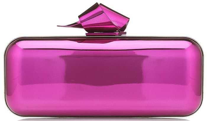 Hot-Pink Metallic Clutch (Jimmy Choo)