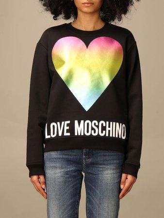 Love Moschino Sweatshirt Love Moschino Crewneck Sweatshirt With Logo