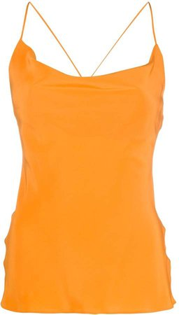 cowl neck silk camisole