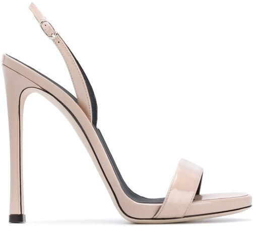 Vernice open-toe sandals