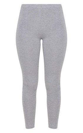 Basic Grey Jersey Leggings   Leggings   PrettyLittleThing