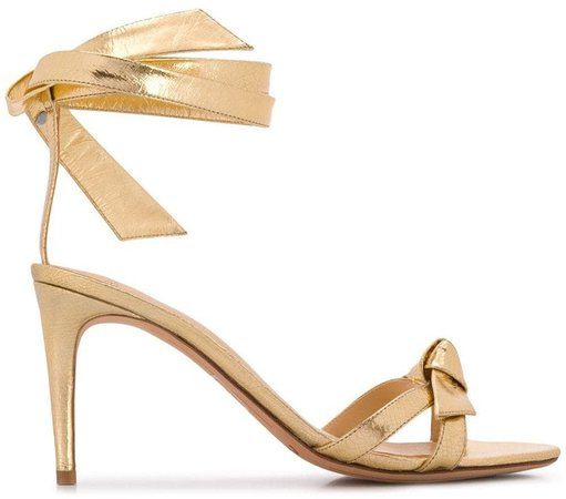 Wrap Tie Heeled Sandals