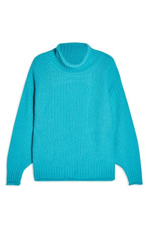 Topshop Mixed Stitch Roll Neck Sweater | Nordstrom