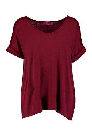Oversized Boyfriend V Neck T-Shirt | Boohoo