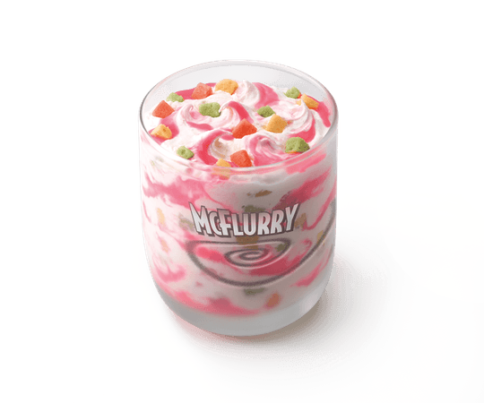 """James McGowan on Twitter: """"Strawberry Shortcake McFlurry with Rainbow Bites looks a bit scary. I wonder what Rainbow is supposed to taste like? https://t.co/S0QTrxUH6T"""" / Twitter"""