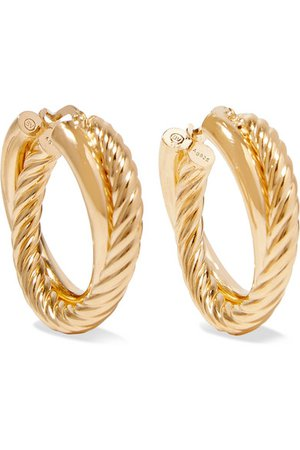 Bottega Veneta | Gold-plated hoop earrings | NET-A-PORTER.COM