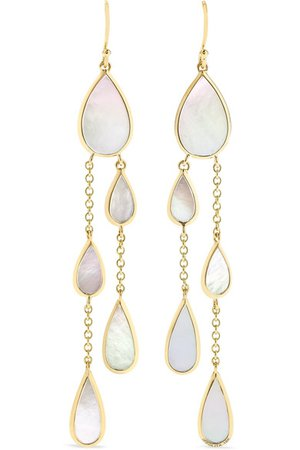 Ippolita | Polished Rock Candy 18-karat gold mother-of-pearl earrings | NET-A-PORTER.COM