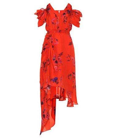 Dana floral silk dress