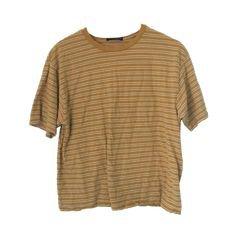 striped mustard yellow shirt