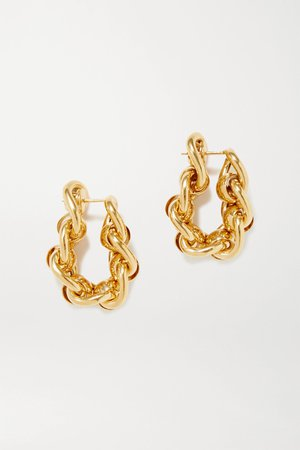 Gold Gold-plated hoop earrings | Bottega Veneta | NET-A-PORTER