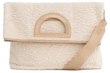 The Foldover Faux Shearling Tote