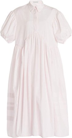Cecilie Bahnsen Margo Cotton Poplin Shirt Dress