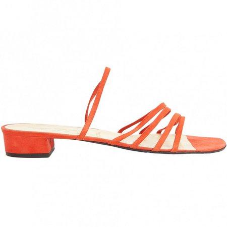 Orange Suede Sandals