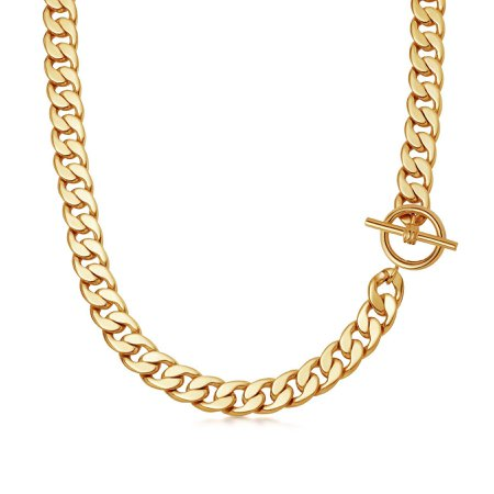 Lucy Williams Gold T Bar Chunky Chain Necklace | 18ct Gold Plated | Missoma | Missoma Limited
