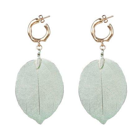 JUJIA za New Natural leaves Drop Earrings For Women Big Statement Dangle Earrings Wedding Party Jewelry-in Drop Earrings from Jewelry & Accessories on Aliexpress.com   Alibaba Group