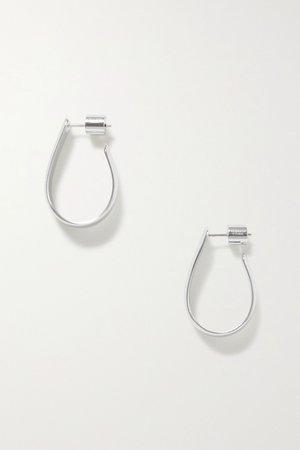 Silver Petite Bolden silver-plated hoop earrings | Jennifer Fisher | NET-A-PORTER