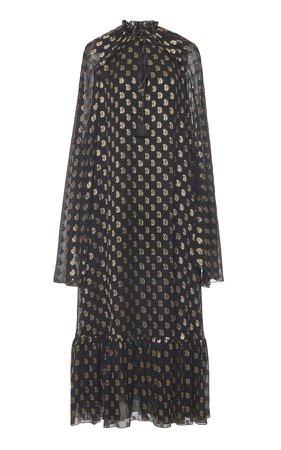 Etro Printed Silk-Blend Midi Dress