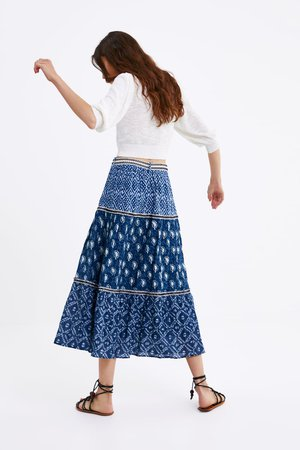 BELTED PRINT SKIRT - View All-SKIRTS-WOMAN | ZARA Canada