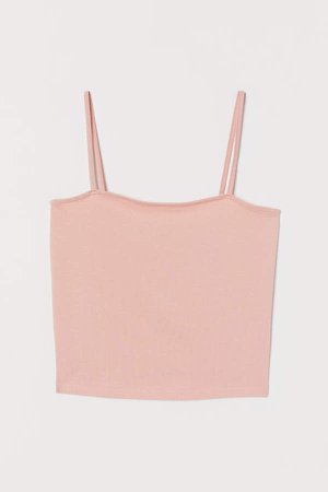 Cropped Jersey Camisole Top - Orange