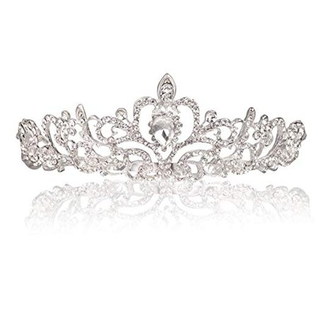 Amazon.com : Makone Crystal Crowns and Tiaras with Tomb Headband for Girl or Women Birthday Party Wedding Prom Bridal : Beauty