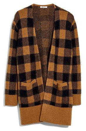 Madewell Kent Buffalo Check Cardigan Sweater   Nordstrom