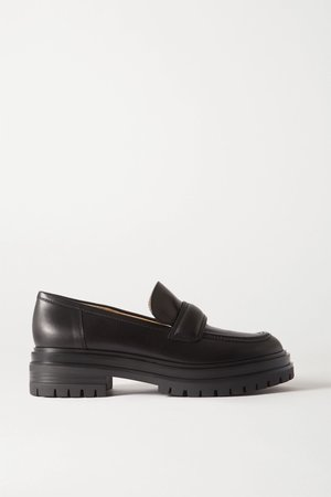 Black Leather loafers | Gianvito Rossi | NET-A-PORTER