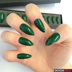 emerald green nail designs - Cerca con Google