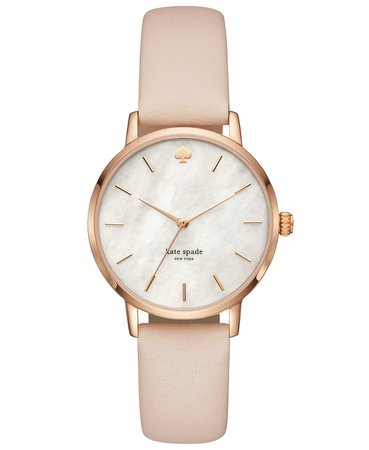 kate spade new york Women's Metro Vachetta Leather Strap Watch 34mm KSW1403 & Reviews - Watches - Jewelry & Watches - Macy's