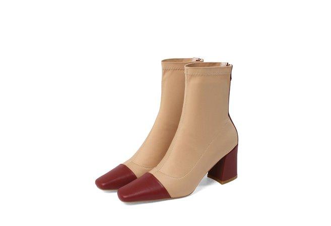 Chiko Jerusha Square Toe Block Heels Boots -