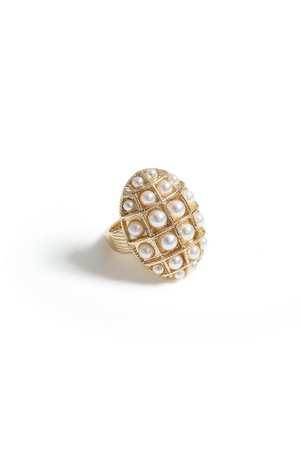 **Pearl Domed Ring | Topshop