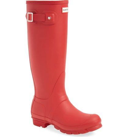 Hunter Original Tall Waterproof Rain Boot (Women)   Nordstrom